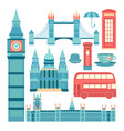 set of london vector image