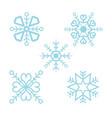 snowflake set package vector image