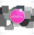 Square and circle background vector image