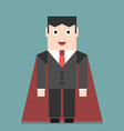 Successful businessman super hero vector image