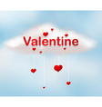 Valentine theme vector image