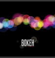 Abstract background and Blurred Lights on black ba vector image vector image