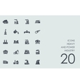 Set of heavy and power industry icons vector image