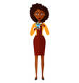 african american business woman drinking coffee vector image