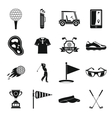 Golf items icons set simple style vector image