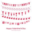 Valentines day greeting card with festive garlands vector image