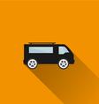 Car icon 4 Long Shadow vector image vector image
