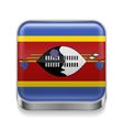 Metal icon of Swaziland vector image