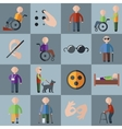 Disabled icons set vector image