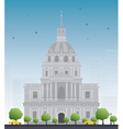 Les Invalides hospital vector image