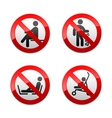 set prohibited signs - people vector image