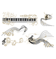 music key notes vector image