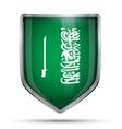 Shield with flag Saudi Arabia and ribbon vector image