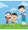 family looking pointing vector image