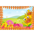 Fence Bordered Nature Background vector image
