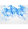 Blue bright abstract geometric background vector image