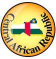 Button Central African Republic vector image