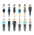 cartoon business people set staff dress style vector image