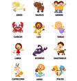 Funny zodiac vector image