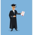 Happy Man after Graduation vector image