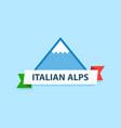 italian alps logo vector image