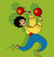 salsa dancer vector image