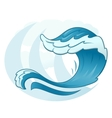 Sea wave symbol vector image