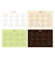 Set of 2015 year calendar templates vector image