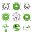 Set of golf club labels and emblems vector image