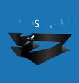 shark businessman business concept vector image
