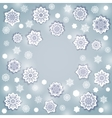 Snowflake Round Frame vector image