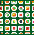 sushi seamless pattern background vector image