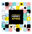 Merry Christmas geometric abstract background vector image