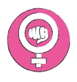 emblem symbol to fight for rights of women vector image