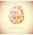 Easter egg of color hexagons and triangles vector image