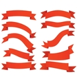 Ribbon banners labels set vector image