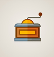 Coffee Mill Flat Icon vector image vector image