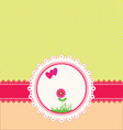 Pastel greeting card vector image vector image