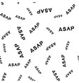 asap hand drawn lettering seamless pattern vector image