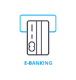 e-banking concept outline icon linear sign vector image