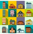 Houses flat icons set vector image