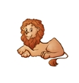 lion in cartoon style vector image