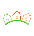 Real estate home on a white background vector image