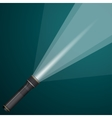 beam of light from a flashlight Black and metal vector image