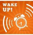 Wake up alarm vector image