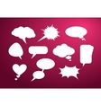 Set of bubble icon vector image