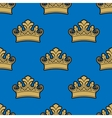Victorian golden crowns seamless pattern vector image