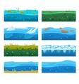 Water Platformer Level Floor Design Set vector image