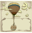new journey in a balloon vector image