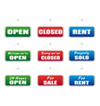 Collection of signboards vector image vector image
